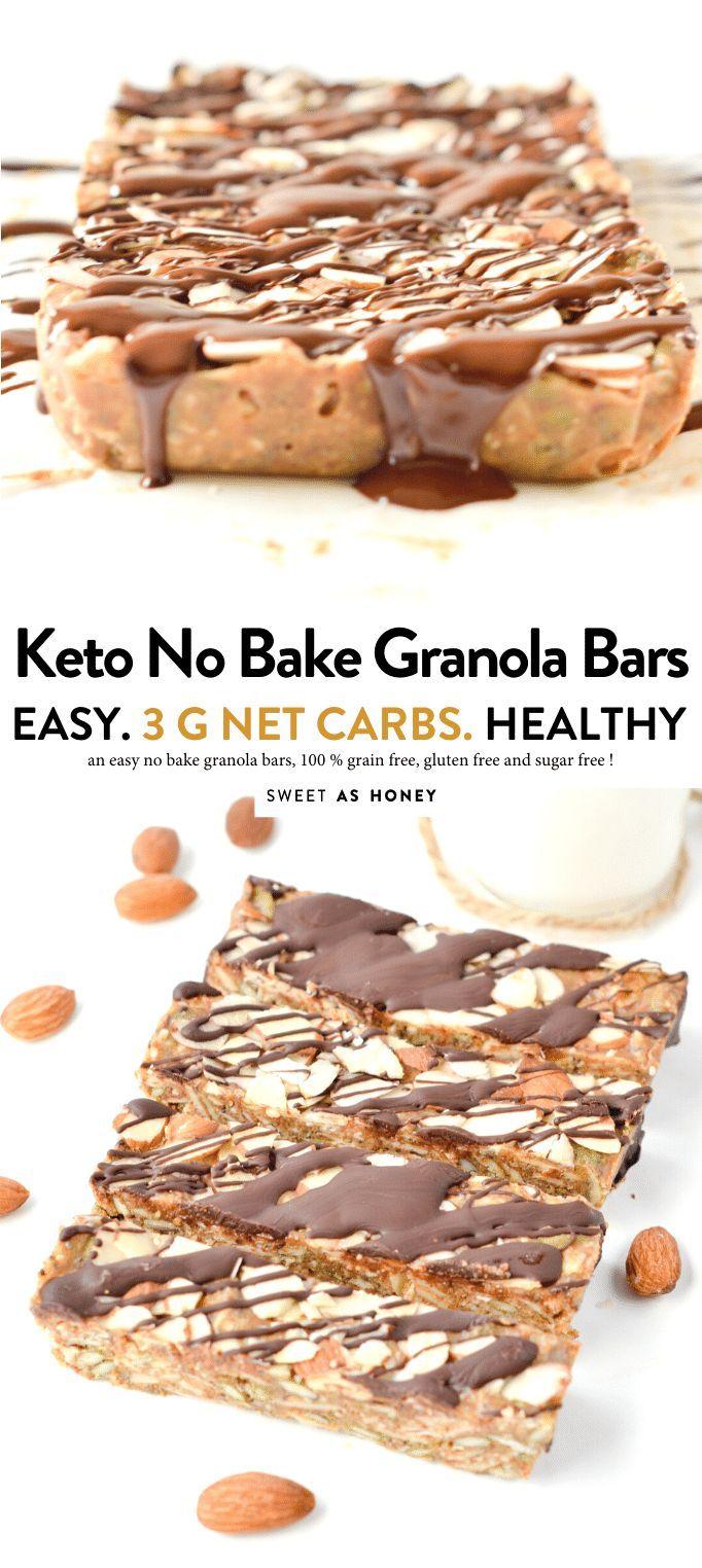 Keto Granola Bars Easy Chewy No Bake Breakfast Bars Or Healthy