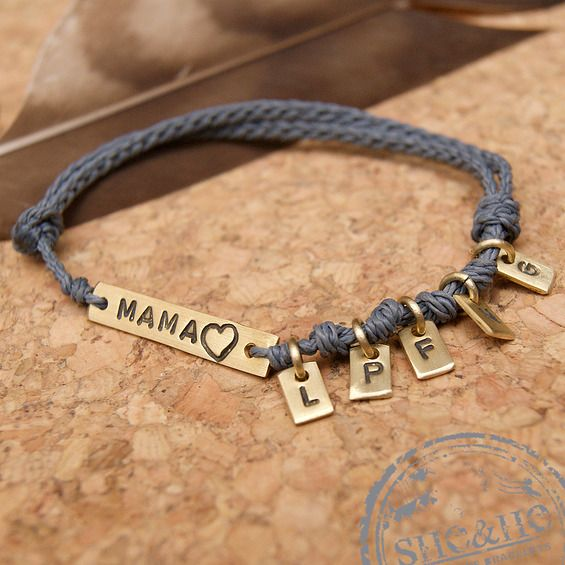 personalized bracelet, mam bracelet, mama gift