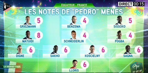 Les notes de Pierre Ménès pour France-Equateur - http://www.actusports.fr/108788/les-notes-pierre-menes-france-equateur/