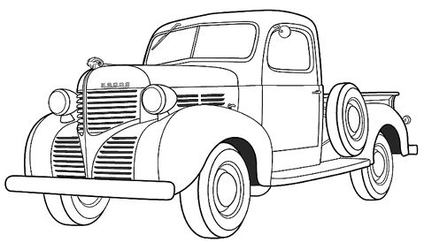 Dodge Pikup Coloring Page - Dodge car coloring pages