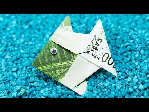 Origami Money Fish Folding  Crafting DIY Tutorial - YouTube