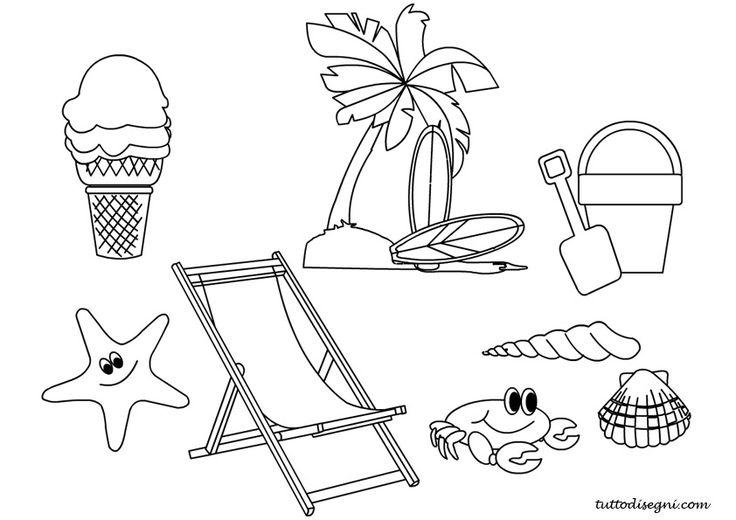 Estate: disegni per bambini da colorare - TuttoDisegni.com