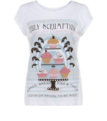 White Truly Scruptious Cake T-Shirt