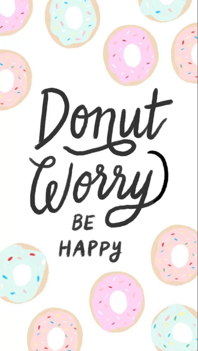 Donut Worry Starbucks Wallpaper Cute Wallpaper For Phone Free Phone Wallpaper