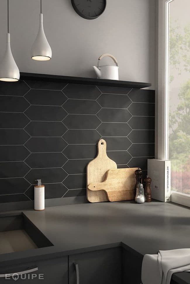 Best 25+ Black backsplash ideas on Pinterest | Kitchen