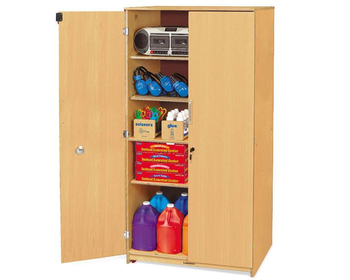Classic Birch Locking Storage Cabinet