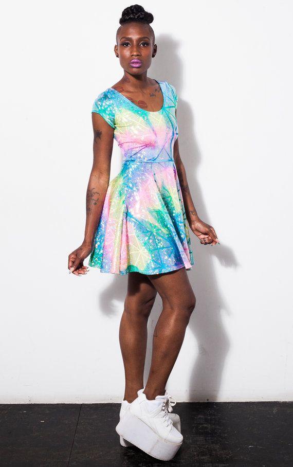 Rainbow Warrior Hologram Skater Dress by DEVOWEVO: Inspiration Future ...