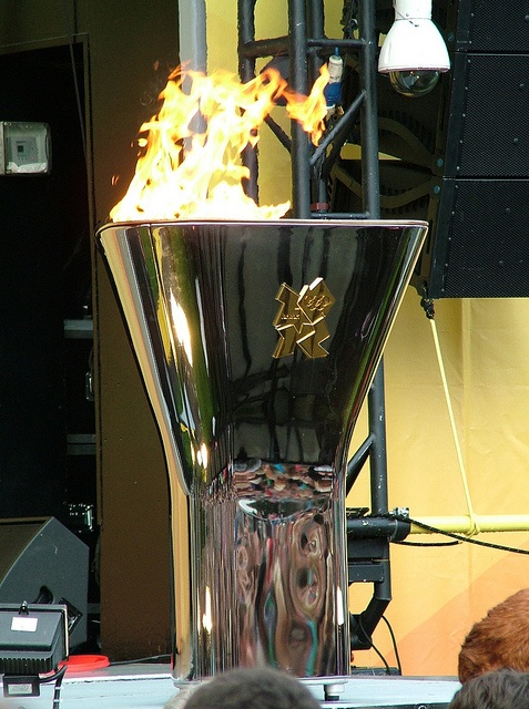 The London 2012 Olympic Flame Cauldron in Bolton