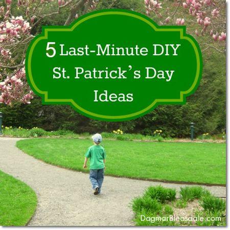 5 Last-Minute DIY St. Patrick's Day Ideas