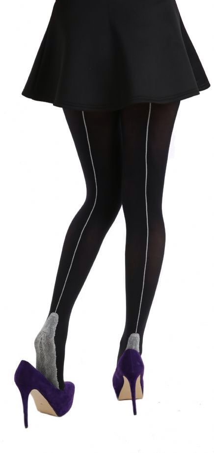A new twist on an old classic! Luxurious 80 denier tights with contrasting white jive seam & delicate lace foot. Available on line now -->  http://www.claireabellascloset.co.uk/vintage/vintage-tights/product/1702-claireabella-s-closet-black-white-lace-foot-jive-seam-tights