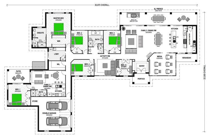 Montego 364 with 1br granny flat attached great pin for for Floor plans granny flats