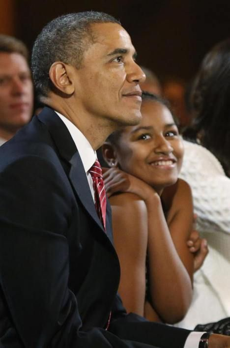President Barack Obama and his beautiful daughter Sasha