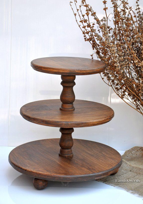 3 Tiered Rustic Wood Cupcake Stand Wood Cake Stand Rustic Wedding Centerpiece Wooden Cupcake Holder Baby Shower Decorations Cake Display Rustic Cupcake Stand Wood Wood Cake Stand Rustic Cake Stands