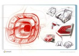 Smart Forjoy Concept Tail Lamp design sketches