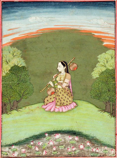 The Raga, Gauri - Series Title: A Garland of symphonies, Ragamala, Artist: Nainsukh ca. 1770 Edwin Binney 3rd Collection The San Diego Museum of Art