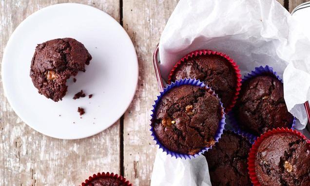 recipe-Chokolade-muffins med Fudge Chunks