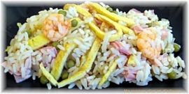 Recette Chinoise : le riz cantonais. huuuum!