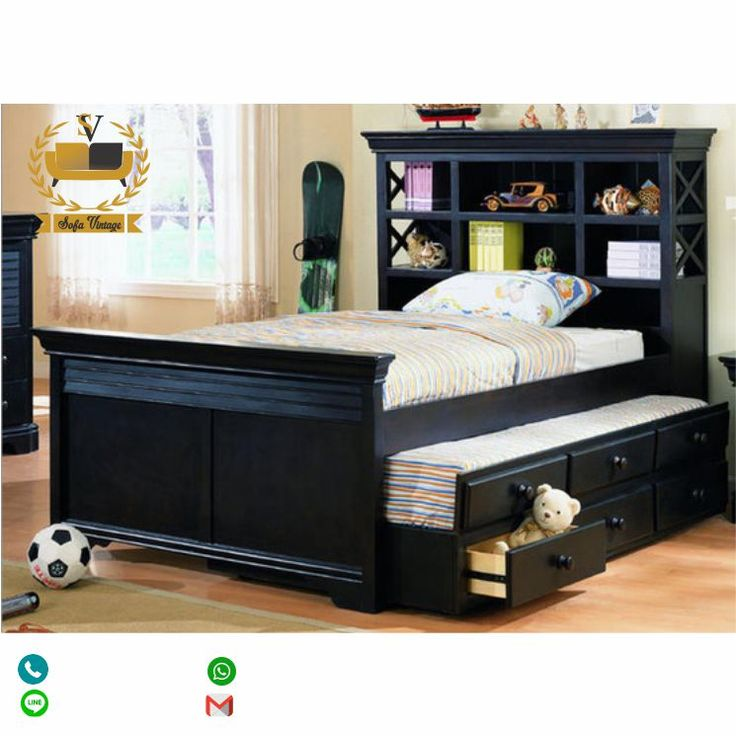 Bedroom Storage, Full Size Bed With Trundle And Storage Drawers