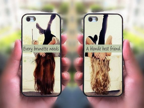 iPhone 5S case,every brunette need a blonde Best Friend,Sisters forever,iphone 5C case,iphone 5 case,iphone 4 case,ipod 4 case,ipod 5 case on Etsy, $28.98