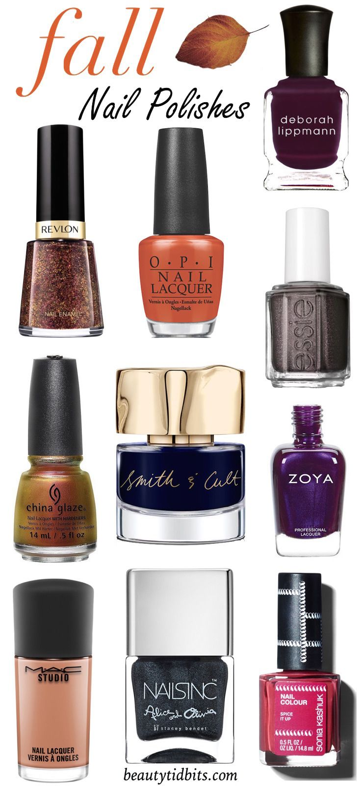 Step up your fall manicure game with these pretty polishes perfectly primed to the changing season!