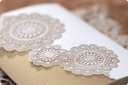 lace wedding invitations #invitesweddings