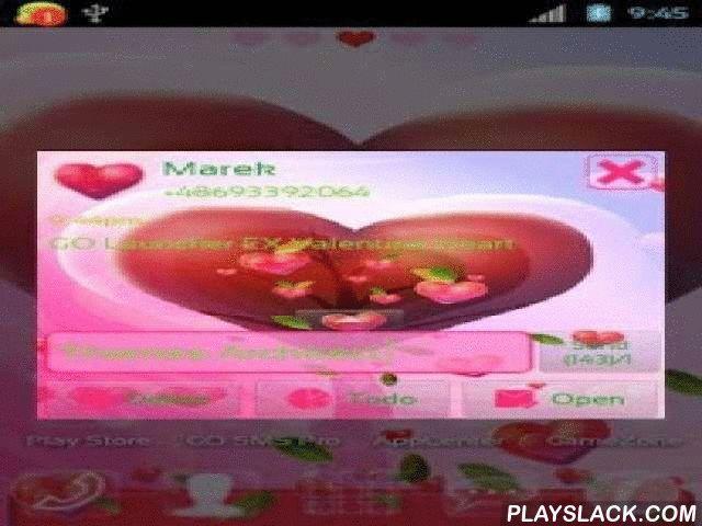 Valentine Heart For GO SMS Pro  Android App - playslack.com ,  Dit thema toont leuke en rood hart op roze achtergrond. Conversatielijst hebben ook grote groene lettertype. Heb je geen problemen met het vinden van een sms op deze lijst. In compose window bericht heb je bovendien frames in roze kleur met een zekere transparantie. U kunt altijd kijken naar uw zoete achtergrond wanneer u tekstberichten lezen. Thema is gemaakt speciaal voor Valentijnsdag. Als je zijn om deze dag ook vieren met je…