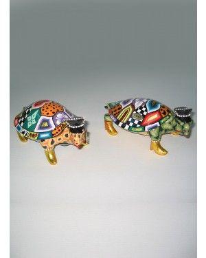 Escultura Tartaruga Elton - Thomas Hoffman #tomsdrag #thomashoffman #decoracao #escultura #amandapresentes #tartaruga #elton