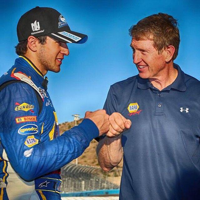 Chase Elliott, 2014 NNS champion, with dad Bill Elliott