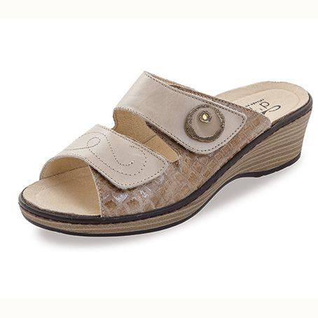 Sandalias de piel Noia Beige