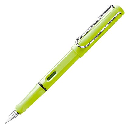The new Lamy Safari 2015 Special Edition Neon Lime Fountain Pen is now available. Also available in rollerball and ballpoint. Limited for 2015.