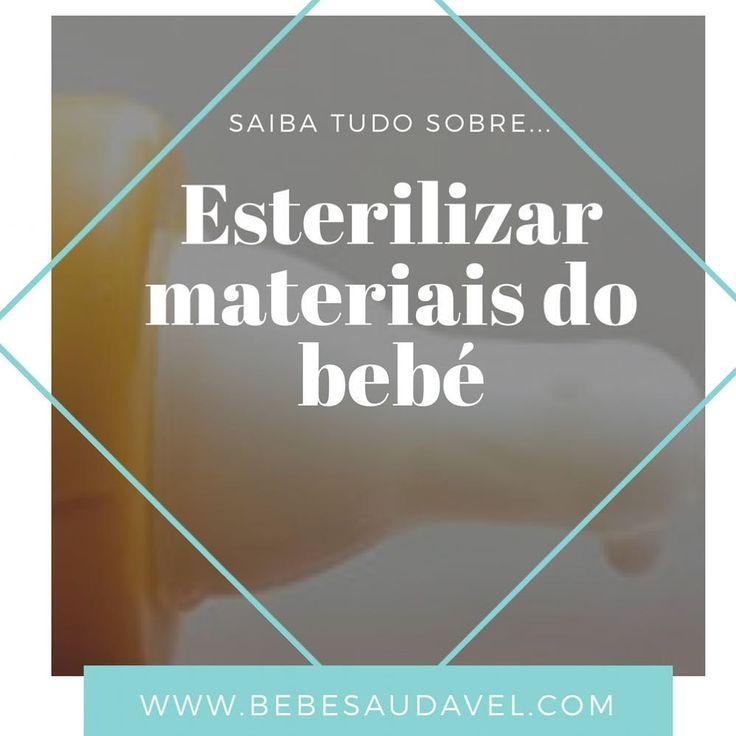 Será mesmo preciso esterilizar todos materiais do bebé? A resposta no post de hoje link na bio #bebesaudavel #baby #bebes #esterilizar #cuidarbebe #healthybaby #maternidade #maes #dicas