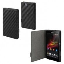 Forro Sony Xperia Z1 Compact Made for Xperia Book Case Carbon Negra  $ 45.507,15
