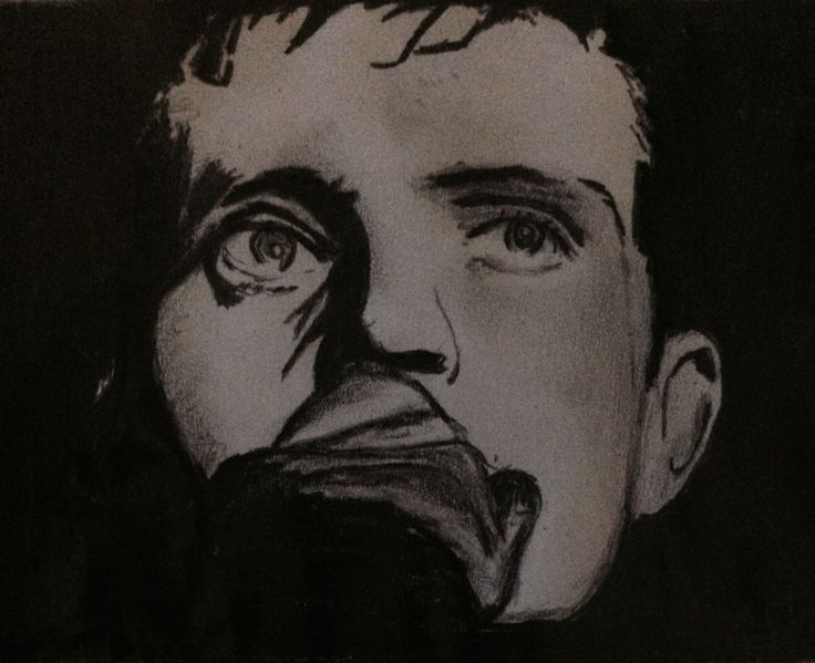 My drawing of Ian Curtis of joy division