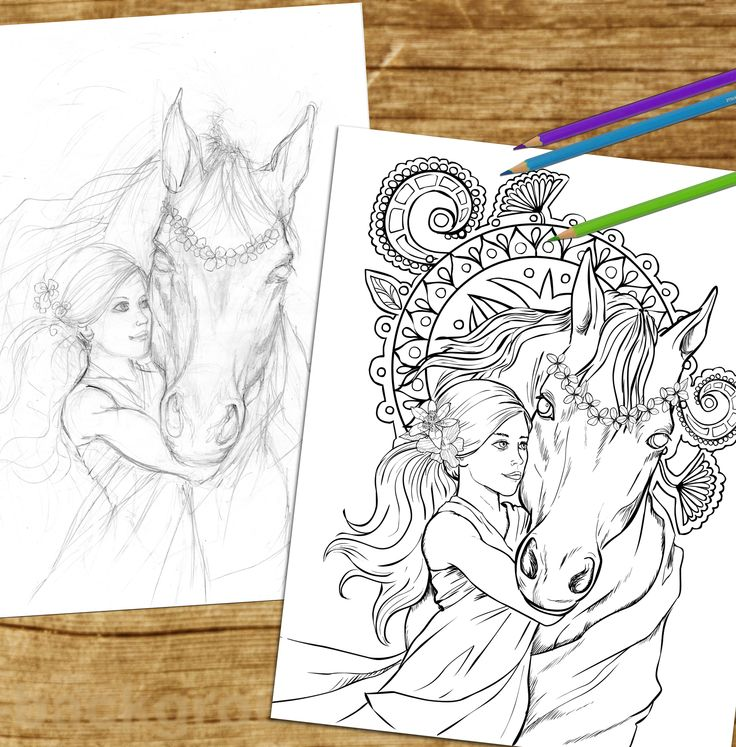 180 best Horse Lovers Coloring Books images on Pinterest