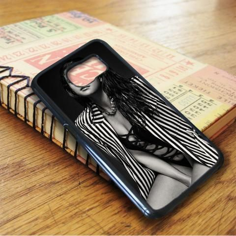 Selena Gomez Sexy Black And White Samsung Galaxy S6 Case