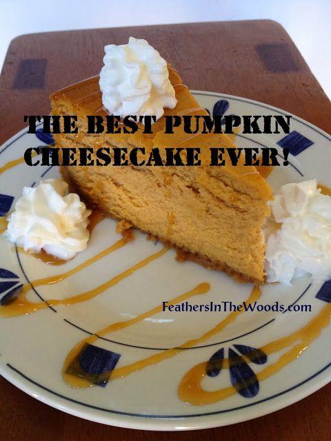 Never fail Pumpkin cheesecake recipe www.FeathersInTheWoods.com #pumpkin # cheesecake #recipe #pumpkin recipe #pupkin cheesecake