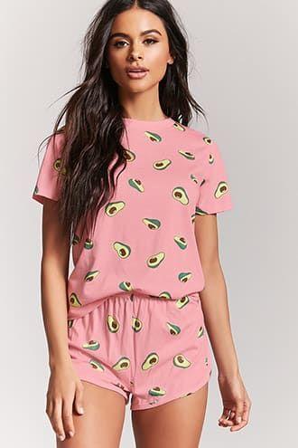 c4ca7d5352ed1 size M Avocado Print Pajama Set | WOMEN'S PAJAMAS in 2019 | Pajama ...