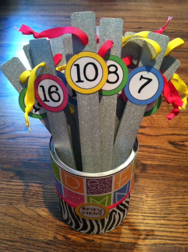 A Cupcake for the Teacher: Problem and Solution: Monday Made It: Cupcake, Shelf Markers, Library Books, Teacher Problems, Libraries Sticks, Classroom Management, Classroom Libraries, Libraries Books, Numbers Sticks