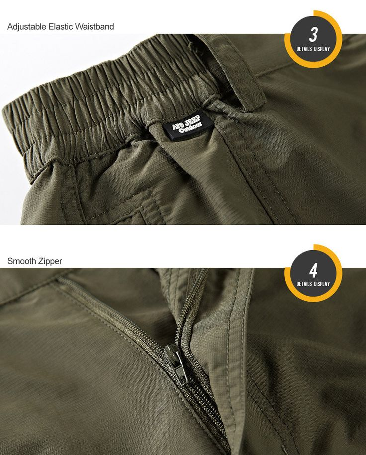 AFSJEEP Customized Vesion Mens Cargo Shorts Water-repellent Quick Drying Breathable Casual Shorts