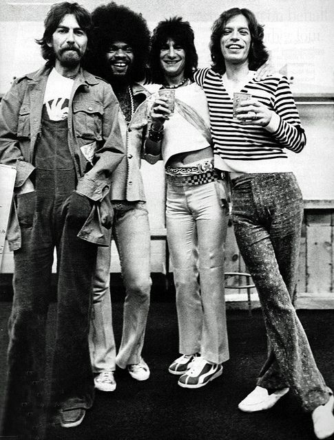 What a GROUP that would've been. BILLY and GEORGE would make the BEST MATCH on LEAD VOCALS. Mick could sing a hook of some kind. {George Harrison,Billy Preston,Ron Wood,Mick Jagger}