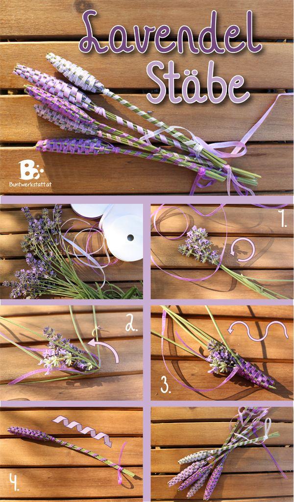 Lavendel Stäbe Anleitung - How to make lavender wands - easy DIY für Litha…