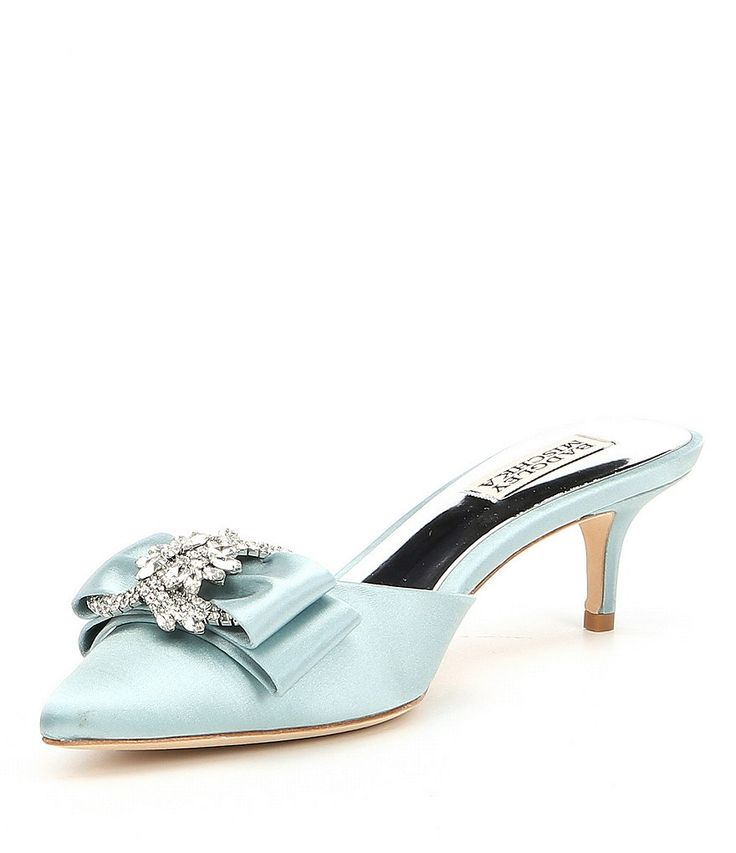 Shop for Badgley Mischka Hagen Satin Bow and Jeweled Ornament Dress Mules at Dillards.com. Visit Dillards.com to find clothing, accessories, shoes, cosmetics & more. The Style of Your Life.