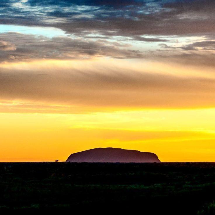Sunrise over Uluru Australia.