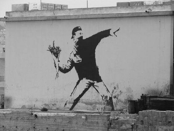 Banksy - Riot Flowers