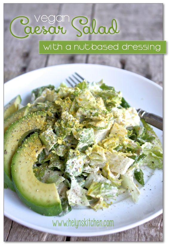 Vegan Caesar Salad to Live For! (nut-based dressing)