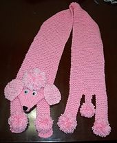 Ravelry: Poodle rosa - cachecol infantil pattern by Kel Cuesta. Free on ravelry