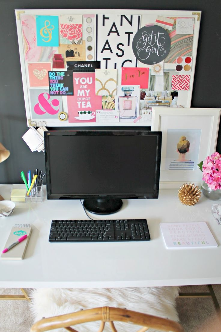 17 best images about desk organization on pinterest Cubicle bulletin board ideas