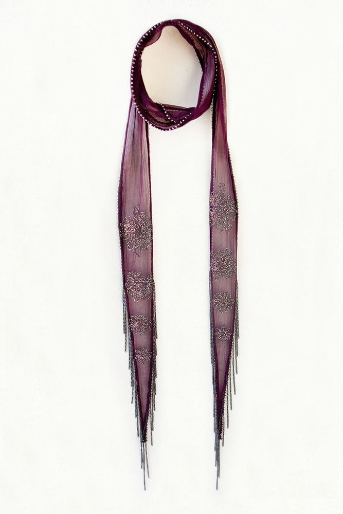 Chan Luu - Intricate Floral Skinny Scarf, $70.00 (http://www.chanluu.com/scarves/intricate-floral-skinny-scarf/)