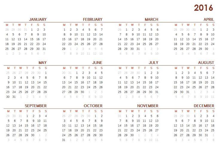 2016 Calendar - This Calendar Portal provides you Free Printable ...