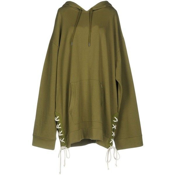 Fenty Puma By Rihanna Short Dress ($244) ❤ liked on Polyvore featuring dresses, military green, lace-up dresses, army green dress, olive green dresses, laced dress and laced up dress